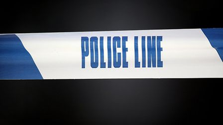 Police traffic units remain at the scene on the A13