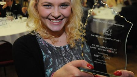 The Recorder/Redbridge Rotary Club Young Citizen Award winner Lucy Daldy
