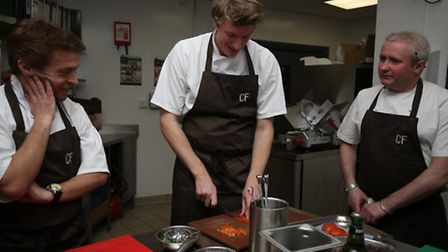 Freddy Mayhew was offered an opportunity to have a cooking lesson at Cafe Football in Stratford with