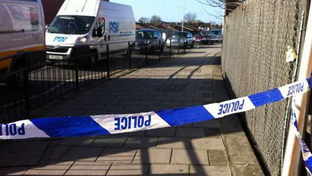 A police cordon was set up along the pavement by Seven Kings station.