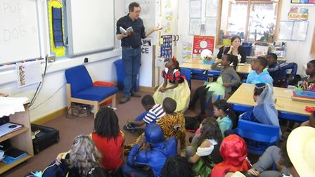 Author Harry Oulton joined Year 3 children at St Luke's Primary School to inspire them to write thei