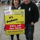 Dawn Gilbert and Paul Silver in Barkingside High Street