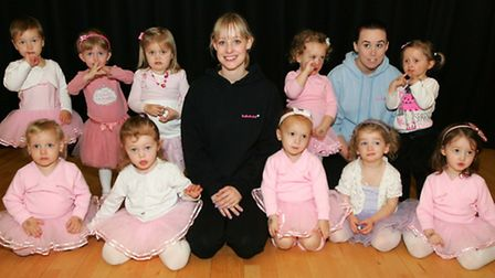 Laura Watkins with her Babyballet class at the Myplace in Harold Hill