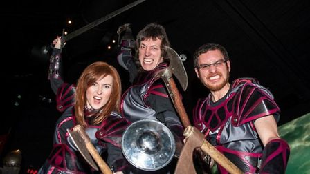 The Bannockburn Battlemasters. (L-R) Amy Cassells, Ned Sampson and Dave Weinczok. Picture: National