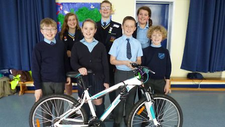 Pupils from Coopers bring their cycling roadshow to Engayne