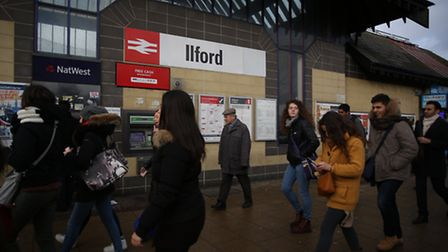 Commuters at Ilford station who were effected by the tube strike on Wednesday.