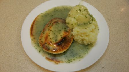 Pie and mash from the family run shop in Romford