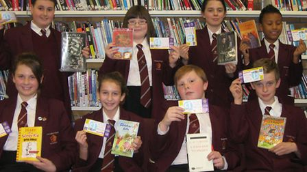 World Book Day vouchers were handed out to lucky students
