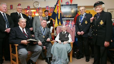 Mr Claydon with Cllr Munday and members of the Royal British Legion