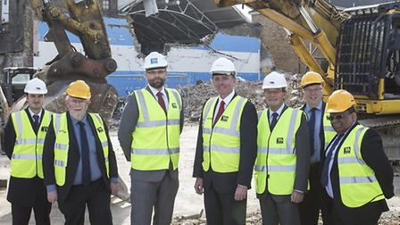 Groundbreaking at the new Atherton Leisure Centre Liam O'Malley (assistant development manager, Sher