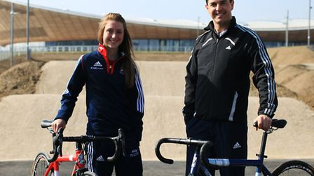 Laura Trott OBE and Mark Colbourne MBE, Ambassadors of Lee Valley VeloPark