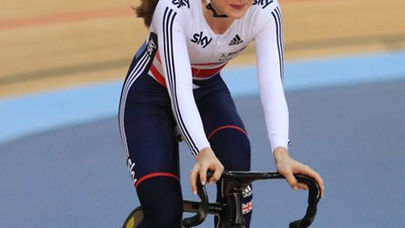 Laura Trott takes a tour of the track ahead of competing at the Revolution Series