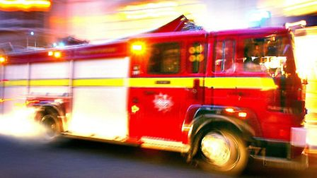 The man was rescued by fire crews after the blaze broke out