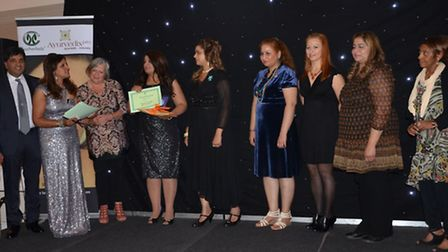 Winners from the Coolherbals Beauty Awards, including Beata Balciunaite (third right) from Beautiful