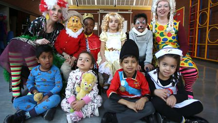 Children from Nursery, Reception, Year 1 and Year 2 from Gordon Infants School in Ilford with Deputy