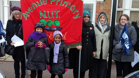 Staff from Avenue Primary went on strike last month