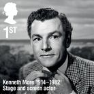 Kenneth More as he features on the new Royal Mail stamp