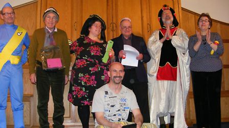 Bet Tikvah Synagogue in Newbury Park showing off their costumes.