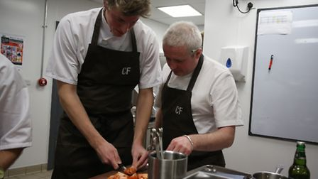 Lesson one with executive chef Brendan Fyldes: how to chop a tomato