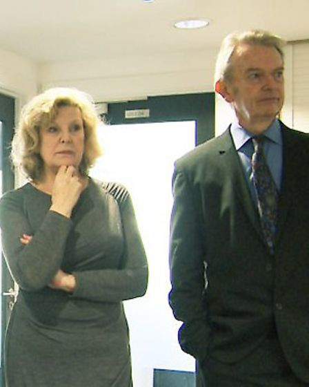 EastEnders actress Ann Mitchell with Philip Hedley