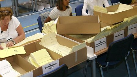Counting the vote... last EU elections in 2009