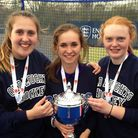 Coopers' trio l-r: Chloe Menear, Hannah Bloy and Emily Holmes
