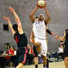 Andre Lockhart in action against Team Northumbria. Paul Phillips
