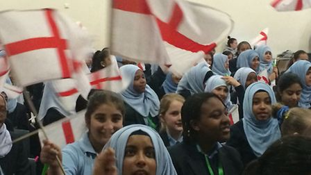 Students from Sarah Bonnell school are among thousands of youngsters who have recorded the song