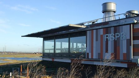 The RSPB visitor centre at Rainham Marshes