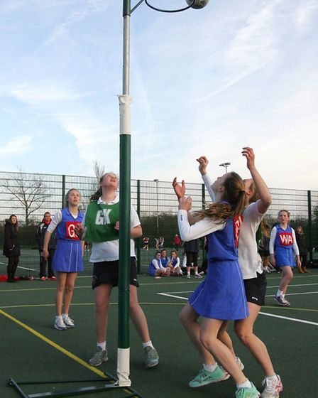 Action from the year nine final between Redden Court and Coopers