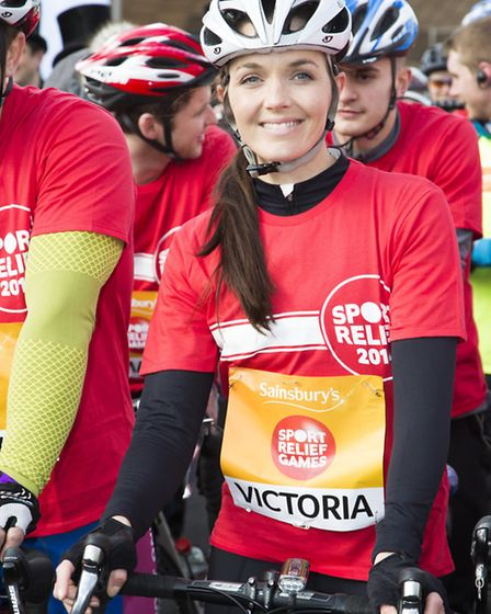 Olympic gold-medal winning cyclist Victoria Pendleton