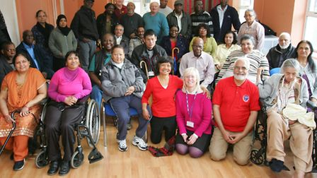 Newham stroke club members with visitors from Lambeth