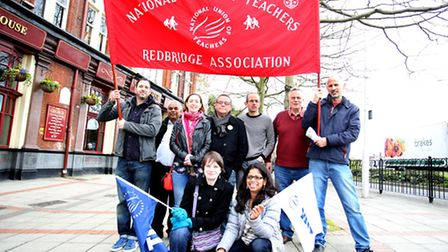 Teachers protested outside Wanstead High School
