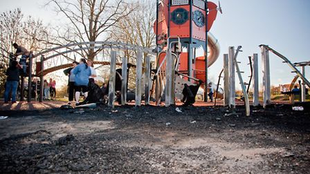 Children have been left in tears by the damage. Picture: Marc Ayres