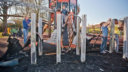 The play area has only been open for a couple of weeks. Picture: Marc Ayres