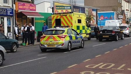 A man in his 20s was taken to hospital earlier this morning.