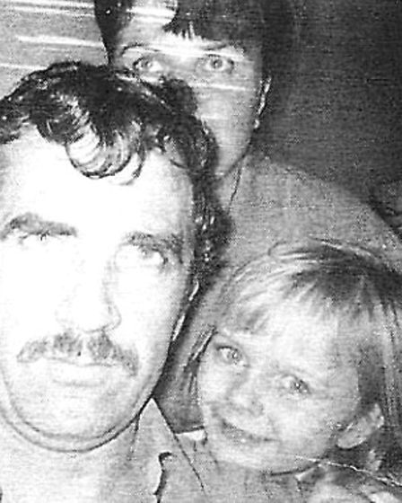 Debby (bottom right) with Alan, the man who raised her (left) and her mother (top)