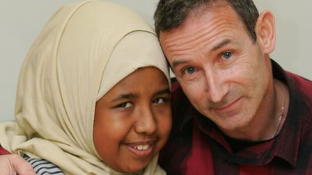 Alya with her teacher Ray Coe who has given her one of his kidneys