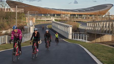 Riders on the road circuit at the Lee Valley VeloPark. Photo: Eleanor Bentall.