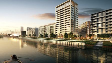 An artist's impression of the development from the river Thames