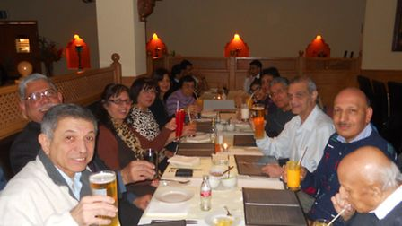 """Around 40 Zoroastrians gathered """"to break bread togther"""" at Ilford restaurant Cosmo on Friday. Photo"""