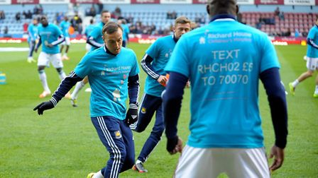 West Ham players warmed up wearing Richard House t-shirts while the match-day programme included a