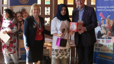 Aisha Naeem from Mayfield School in Goodmayes was the runner-up. Photo: Rotary