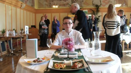 Winner Anthony Sparks from Compton School, Finchley. Photo: Rotary