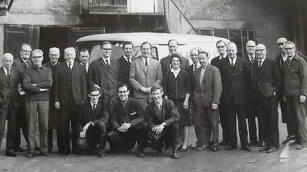 The staff in 1970, with nearly 700 years of service between them. Picture: David Adams