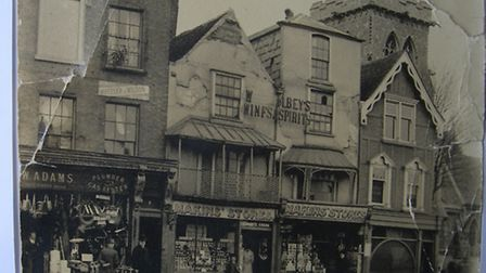 The shop and St Edward�s Church in 1905. Picture: David Adams