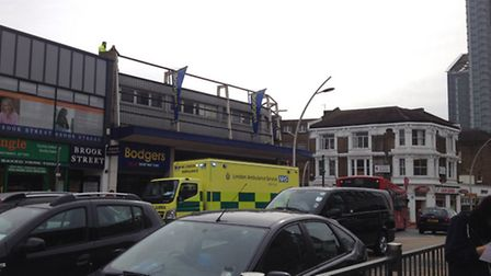 Police and London Ambulance Services were called but the woman was found dead at the scene.