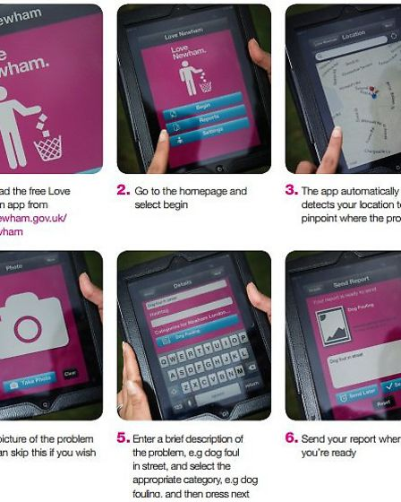 The new app is designed to help Newham residents keep their neighbourhood clean
