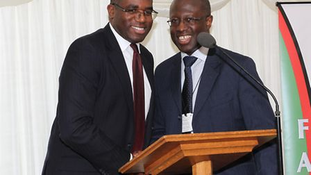 David Lammy MP, left, and Frank Chinegwundoh MBE were among those who attended the launch of the rep