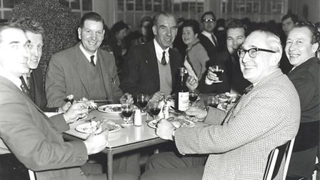 A Christmas dinner for staff in 1964. [Picture: Redbridge Information and Heritage]
